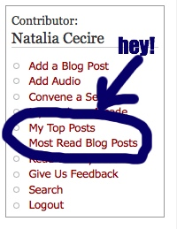 screen shot of Natalia's sidebar